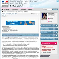 Le plan national d'actions AVC 2010-14
