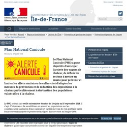Plan National Canicule