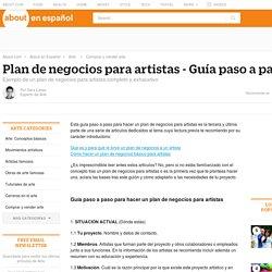 Plan de negocios para artistas - Guía paso a paso