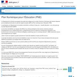 Plan Numérique pour l'Éducation (PNE)