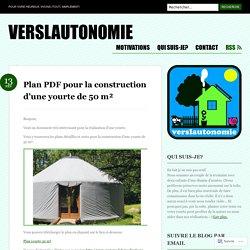 Plan PDF pour la construction d'une yourte de 50 m²