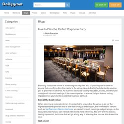 How to Plan the Perfect Corporate Party