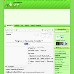 Plan pracy wychowawczej dla klas IV-VI