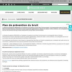 Plan de prévention du bruit