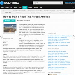 How to Plan a Road Trip Across America