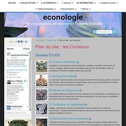 Plan du Site ÉCONOLOGIE : contenus