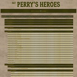 Plan du site - PERRY'S HEROES