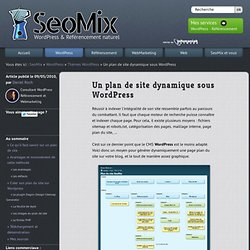 Plan de site Wordpress