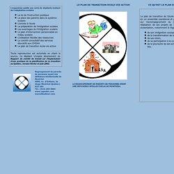 Le plan de transition école-vie active