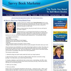 How to Plan Your Virtual Book Tour - The Savvy Book Marketer