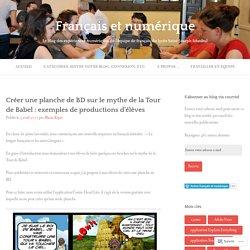 Créer une planche de BD sur le mythe de la Tour de Babel : exemples de productions d'élèves