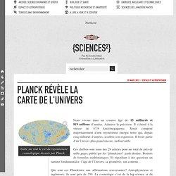 Planck révèle la carte de l'Univers