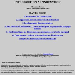 Introduction à l'indexation, A. Serres