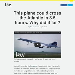 This plane could cross the Atlantic in 3.5 hours. Why did it fail?