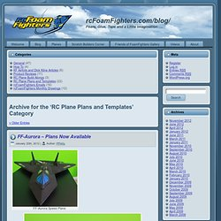 RC Plane Plans and Templates - rcFoamFighters.com/blog/