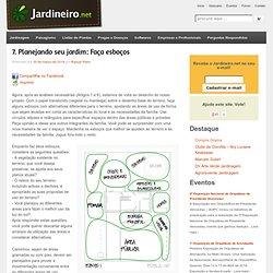 7. Planejando seu jardim: Faça esboços