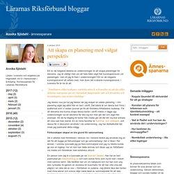 Att skapa en planering med vidgat perspektiv - Annika Sjödahl