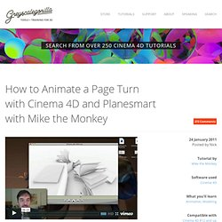 How to Animate a Page Turn with Cinema 4D and Planesmart with Mike the Monkey