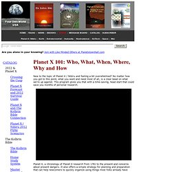 Planet X 101: Who, What, When, Where, Why and How