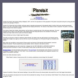 Planet X - informations classifiées
