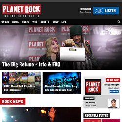Planet Rock - Where Rock Lives on DAB Digital Radio, Sky 0110, Virgin Media 924 and Freesat 730