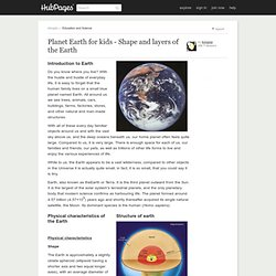 Shape, Layers and Satellite of Planet Earth for kids