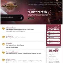 PlanetPapers - free essays, papers, reports - 5000+ in total
