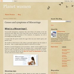 Planet women: Causes and symptoms of Miscarriage