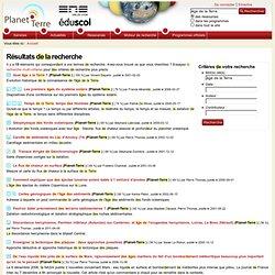 Planet-Terre : ressources en géologie / sciences de la Terre - Recherche