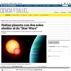 """Hallan planeta con dos soles similar al de """"Star Wars"""""""
