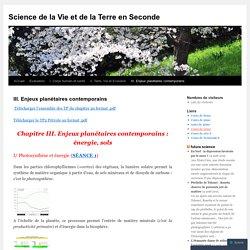 Science de la Vie et de la Terre en Seconde