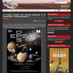 Le congrès européen des sciences planétaires et la manifestation « Voyages Planétaires »