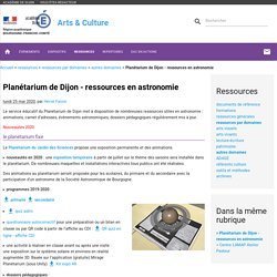 Planétarium - ressources en astronomie - Arts & Culture
