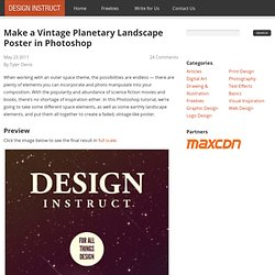 Make a Vintage Planetary Landscape Poster in Photoshop
