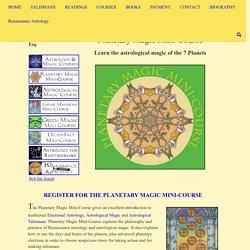 Planetary Magic Mini-Course - Renaissance Astrology
