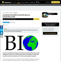 La planète céréalière très lente dans sa conversion au bio