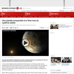 Une planète comparable à la Terre hors du système solaire
