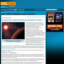 Gliese 667Cc sur ciel et espace