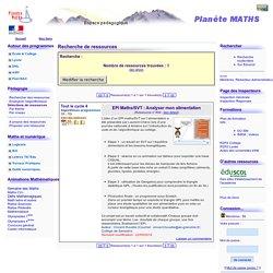 Planète MATHS - Recherche de ressources