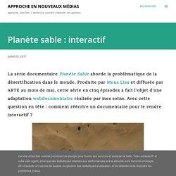 Planète sable : interactif
