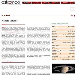 Planète Saturne la planète aux anneaux