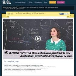 Cours La Terre, planète du système solaire - Soutien scolaire en ligne - Les Bons Profs