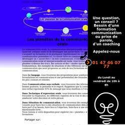 Communication orale - Les planètes de la communication