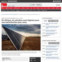 En Afrique, les planètes sont alignées pour une électrification plus verte