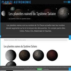 Planètes naines du Système Solaire 3D HD - Planète Astronomie
