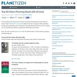 Top 20 Urban Planning Books (Of all time)