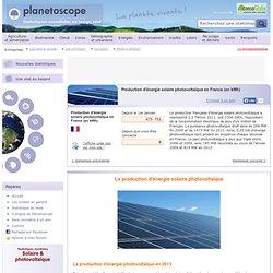 Production d'énergie solaire photovoltaïque en France (en kWh)