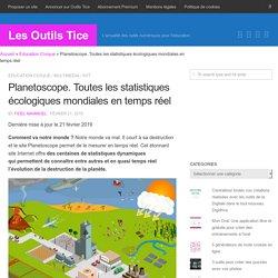 Planetoscope. Toutes les statistiques écologiques mondiales en temps réel