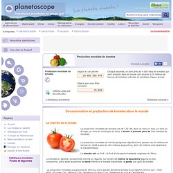 Production mondiale de tomates