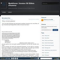 Micro planeur Virus - Modélisme / Années 50/ Billets d'humeur